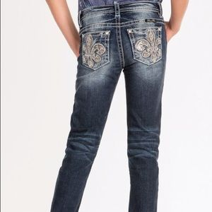 💎Girl's Blue Whiskered Miss Me Skinny Jeans💎